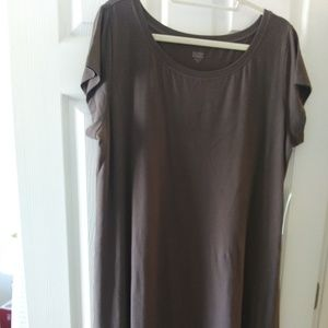 NEW EILEEN FISHER COTTON T-SHIRT MAXI DRESS XL